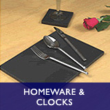 Homeware and Clocks - table mats, pastry boards, chess boards