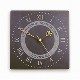 Roman Numeral Clock With Logo (Large)