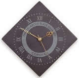 Diamond Shaped Roman Numeral Clock With Logo (Large)